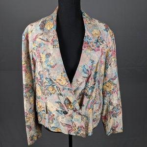 VTG Floral blazer (B11)